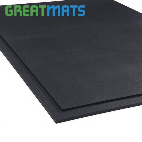 4x6 Ft Black Rubber Gym 3 4 Inch Floor Mat Gym Flooring Rubber Rubber Flooring Gym Mats