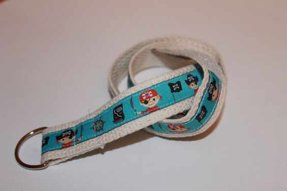 Children's Pirate Belt D-Ring with Velcro by PickledPreppy on Etsy
