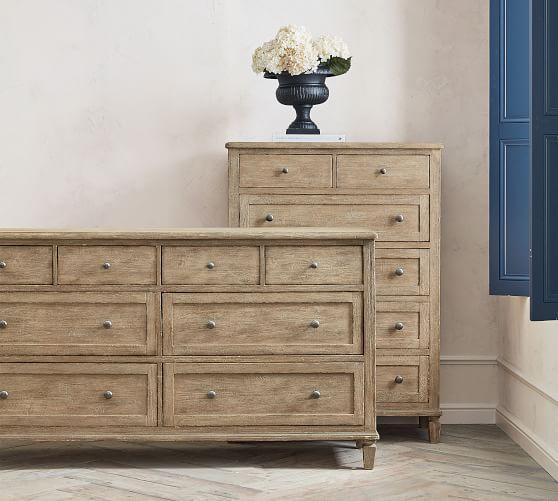 sausalito 8 drawer extra wide dresser potterybarn tall novogratz modern farmhouse bushwick metal bed