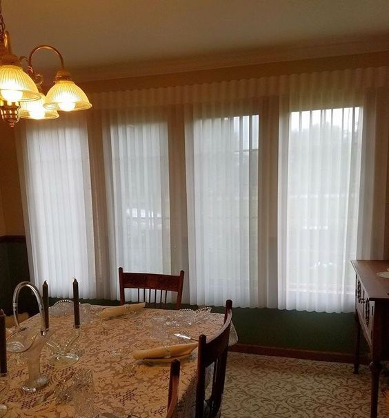 """Window Shadings gone """"Vertical"""" - that's what Sheer Vertical Blinds are all about. #VerticalBlinds"""