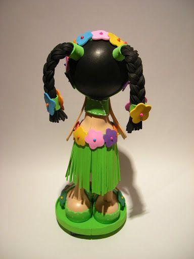 Bonecos 3D em EVA - Fofucha Havaiana-102498630180302518149 - Álbuns Web Picasa