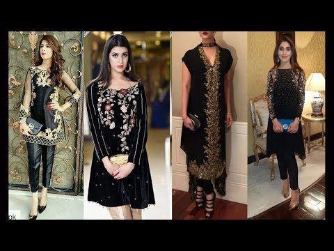 Top 20 Best Beautiful Black Colour Dress Designs All Black Suit Designs Colorful Dresses All Black Suit Designer Dresses