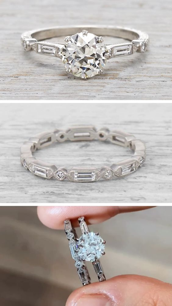 2.4Ct 14K White Gold Over Halo Asscher Cut Diamond Engagement Wedding Ring R8