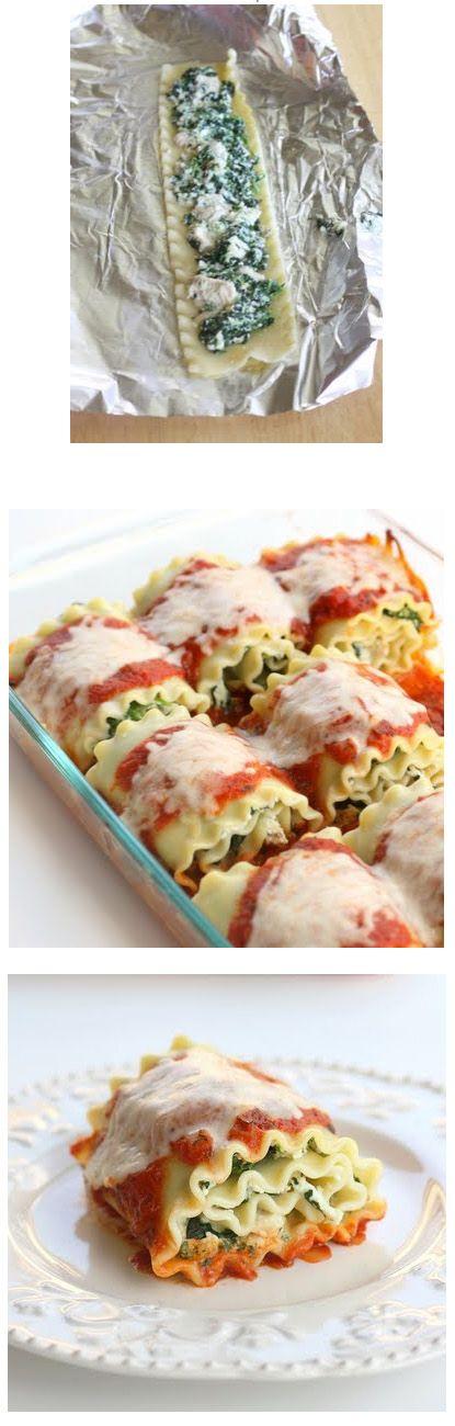 HEALTHY SPINACH LASAGNA ROLLS | Use Rice pasta to make Gluten Free
