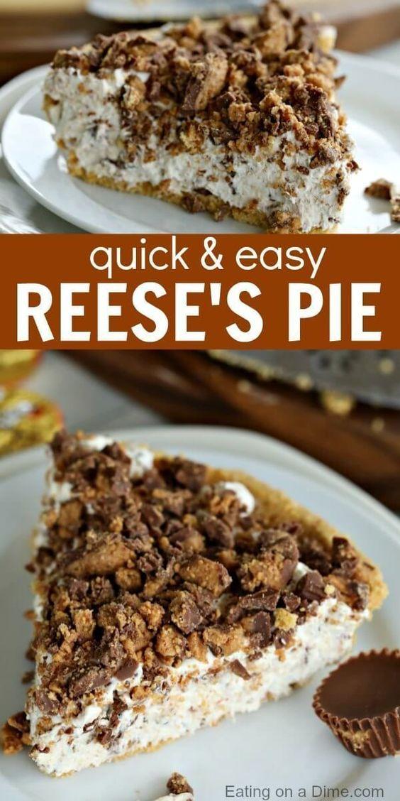 Reeses Pie Recipe - Easy Reese's Peanut Butter Pie Recipe