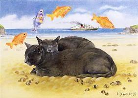 E.B.  Watts - Fish Dreams, 1997 (acrylic on canvas)