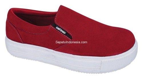 Sepatu Casual Wanita Ctn 19 416 Sintetik Merah 36 40 Rp