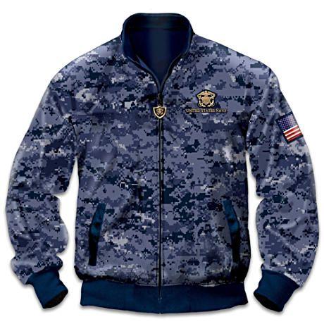 U.S. Navy Pride Reversible Camouflage Men's Jacket | My Style ...
