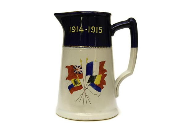 WW1 Commemorative Jug. Antique War Memorabilia by LeBonheurDuJour