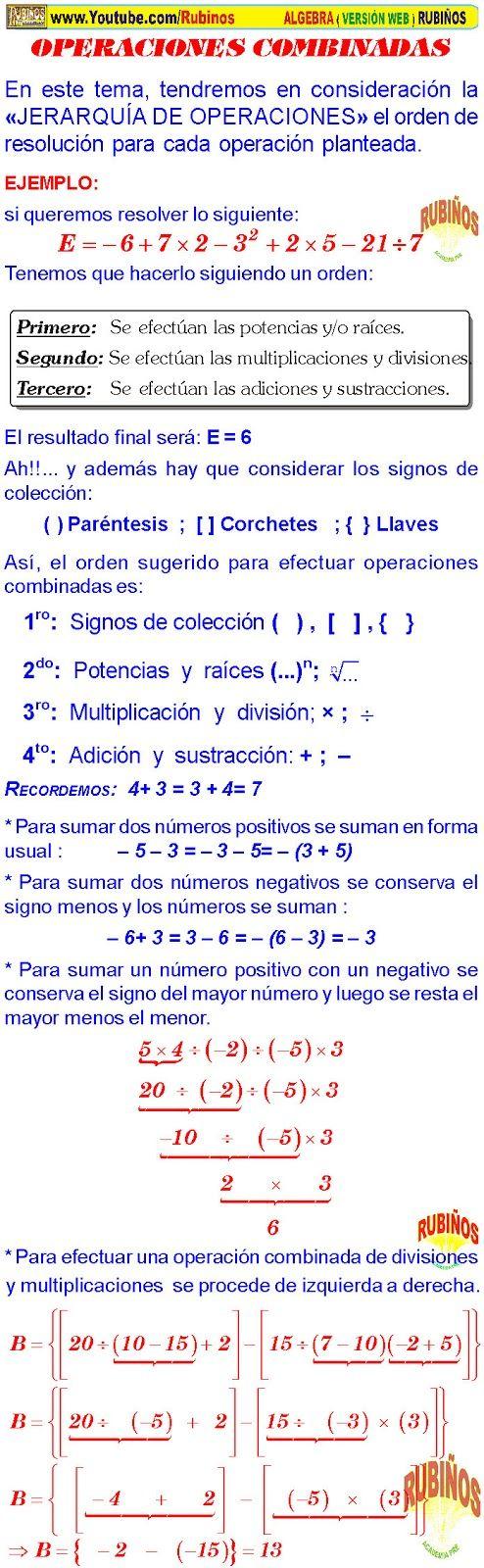 Conjunto De Los Numeros Enteros Ejercicios Pdf Numeros Enteros Operaciones Con Numeros Enteros Jerarquia De Operaciones