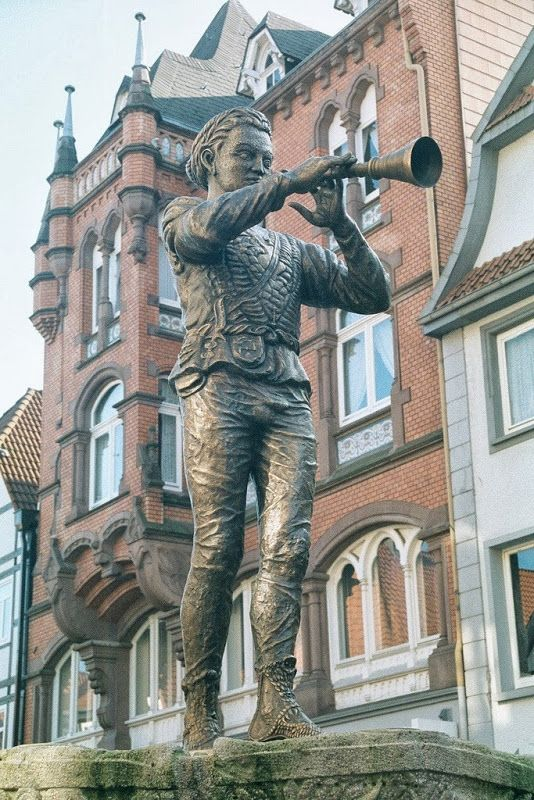 The Pied Piper of Hameln in Hameln Germany Located on the River Weser in Lower Saxony, Germany,:
