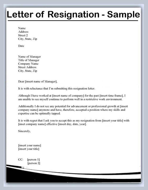 Pin By Paula Guerrero On Resume Tips Resignation Letter Resignation Letter Sample Resignation Letter Format