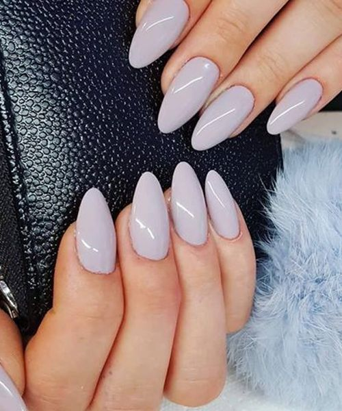 Wonderful Light Grey Stilleto Nail Art Designs Almond Acrylic Nails Almond Nails Designs Stilleto Nails