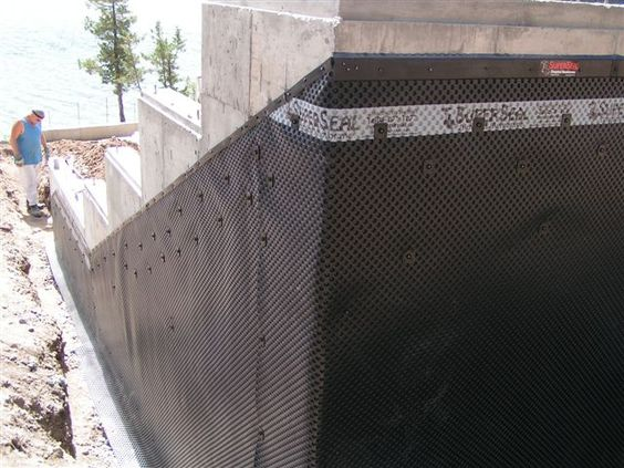 Superseal 39 S Dimpled Membrane Installed On A Slope