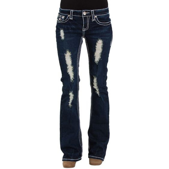 LA Idol Jeans Rip Bootcut 1209LP ($51) ❤ liked on Polyvore featuring jeans, pants, bottoms, distressed jeans, destructed jeans, destroyed jeans, destruction jeans and ripped jeans