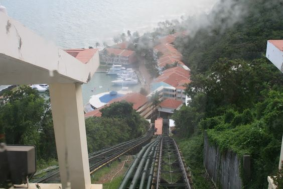 Tram view down to the water #elconquistador