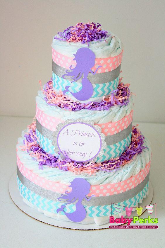 mermaid baby shower mermaid shower decoration mermaid diaper cake
