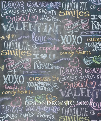 lemondrop stop chalk valentine holiday seasonal scenes canvas photography backdrops lemondrop - Valentines Backdrops