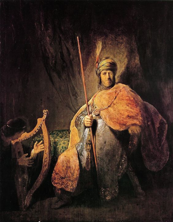 David playing the harp before Saul, between 1629 and 1631, Rembrandt: