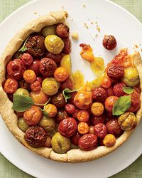 Cherry Tomato Tart with Basil Recipe from Food & Wine