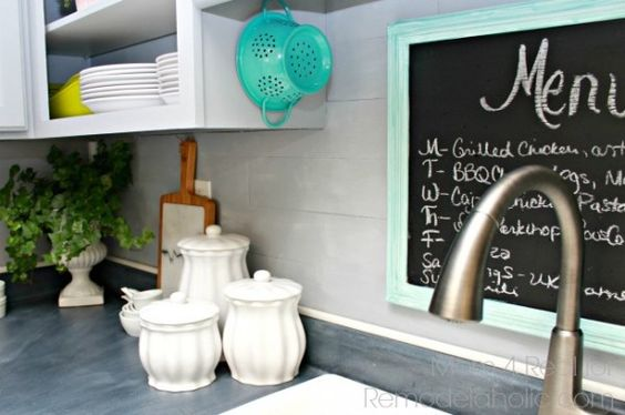 Give Your Kitchen A New Look With This Super Easy Planked