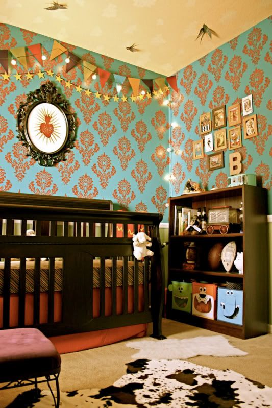 Bunting: Wall Paper, Wallpaper, Nursery Ideas, Carnival Nursery, Baby Rooms, Baby Stuff, Kids Rooms