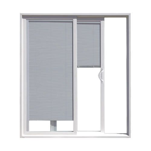 Jeld Wen Builders Series 72 X 80 Vinyl Sliding Patio Door With Internal Blinds At Menard Vinyl Sliding Patio Door Contemporary Patio Doors Patio Door Blinds