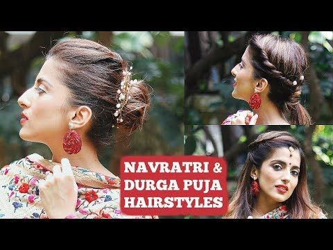 Quick Hairstyles For Navratri Durga Puja India Hairstyles For Short To Mediu Quick Hairstyles Medium Short Hair Medium Hair Styles