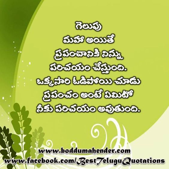 Telugu Quotations collected n created by  BODDU MAHENDER http://teluguquotes4u.blogspot.in  www.boddumahender.com