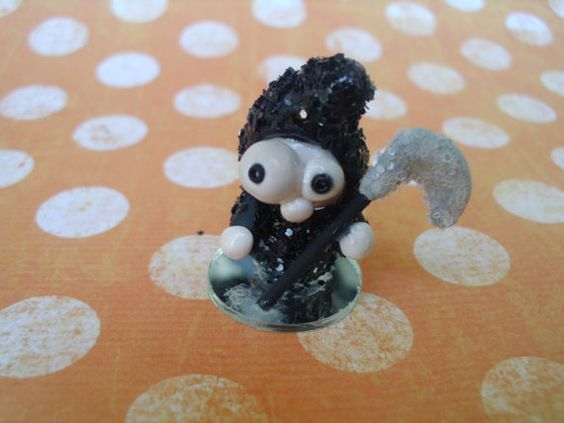 Grimm Reaper Grim Reeper Monster Polymer Clay Doll by MyWillies, $12.00