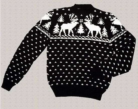 Knitting Pattern Christmas Jumper : ViNTAGE REINDEER and XMaS TREE SWeATER ViNTAGE KNITTiNG PATTeRN PDF DoWNLOAD ...