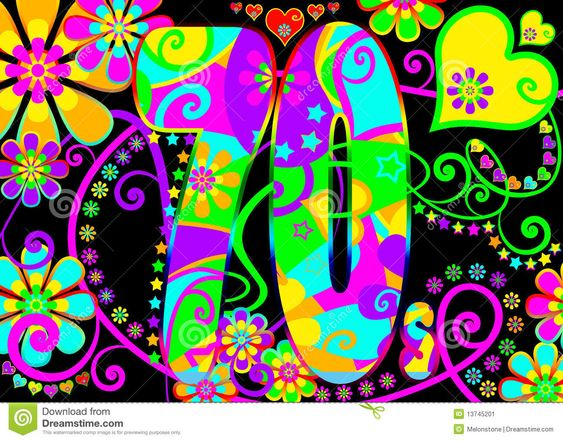 Vintage Psychedelic 70s Party  - Download From Over 29 Million High Quality Stock Photos, Images, Vectors. Sign up for FREE today. Image: 13745201