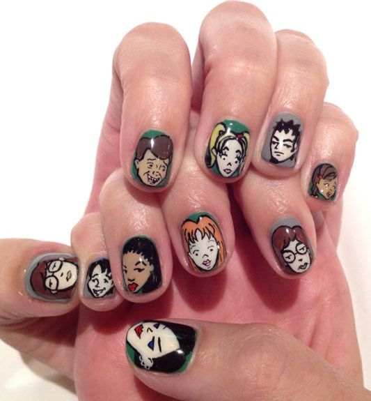 It doesn't get any better than hand-painted Daria nails.