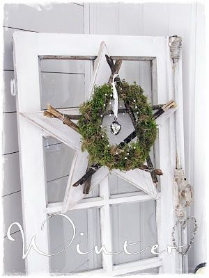Love it. Use scrap wood for the star, the rest is forest glam!((christmas all year))