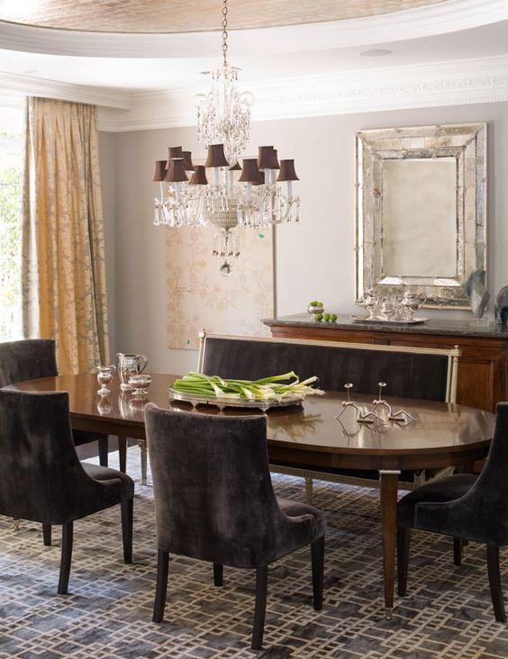 windsor smith dining room velvet chairs velvet settee