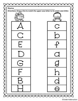 Students can practice matching the uppercase letters to the ...