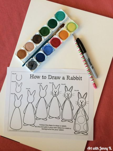 How to draw a bunny rabbit step by step: