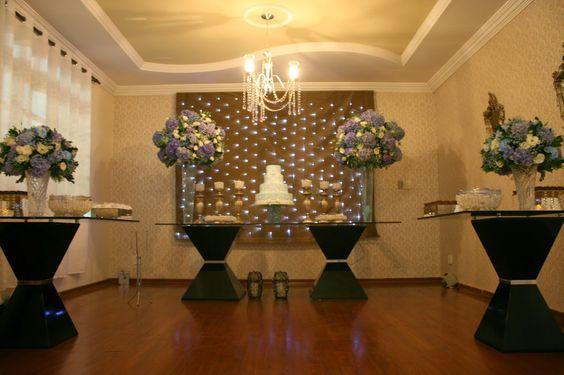 www.lakehouse.com.br: 15 anos - decoração azul e branco - Lake House