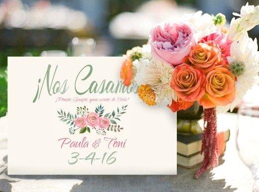 Invitación Acuarela Aguarosa de Comotinta   Foto 13