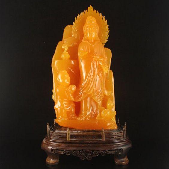 Indonesia Jin Tian Huang Statue - Kwan-yin,Fortune Kid