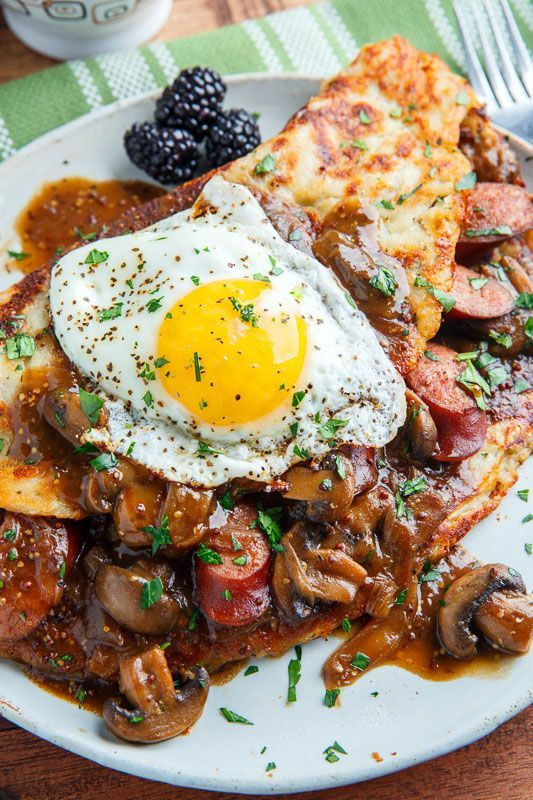... Potato Pancakes) with Bangers in a Guinness Mushroom and Onion Gravy