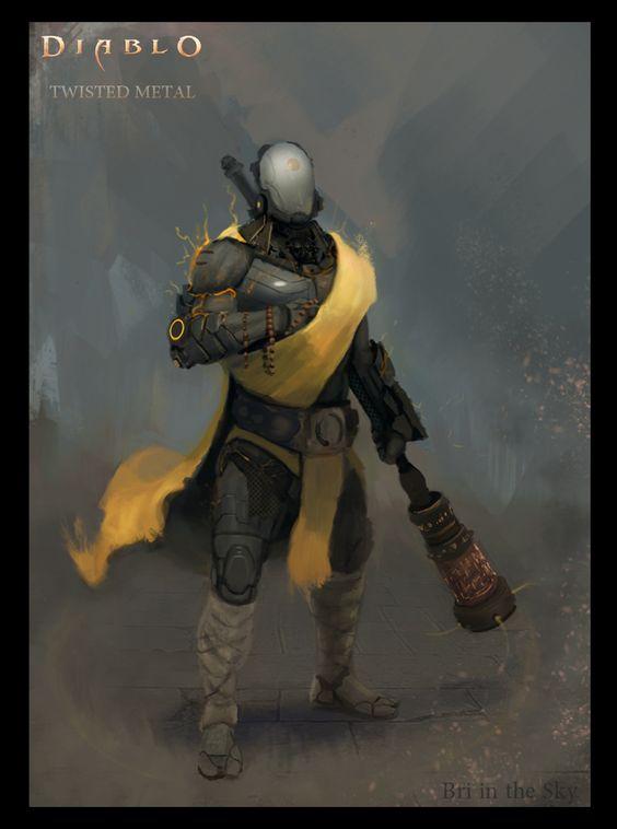 Diablo SciFi Monk by Bri-in-the-Sky.deviantart.com on @DeviantArt