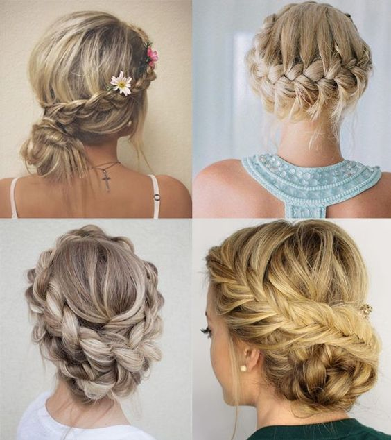 Si quieres peinados para invitadas de boda informales - Peinados recogidos con trenzas ...