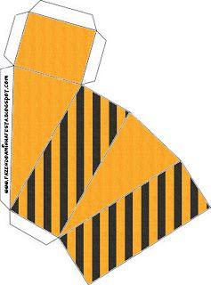 Laranja e Preto com Listras – Kit Completo com molduras para convites, rótulos para guloseimas, lembrancinhas e imagens!   Fazendo a Nossa F...