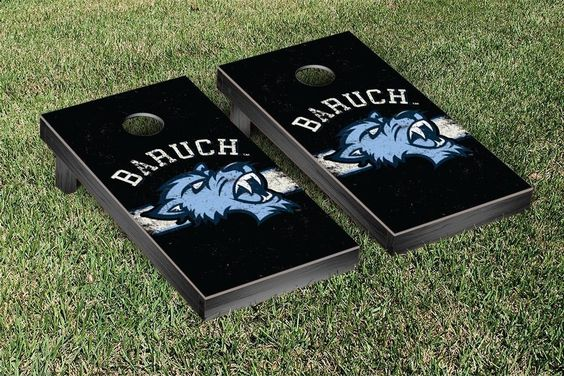Baruch College Bearcats Rustic Established Banner Cornhole Game