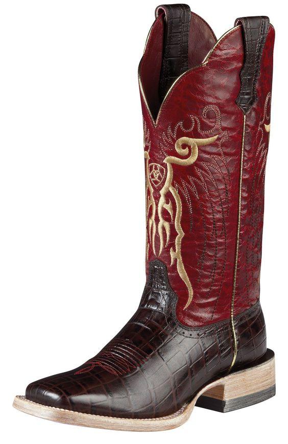 Mens Ariat Mesteno Boots Chocolate #10008752 | Cowboy | Pinterest ...
