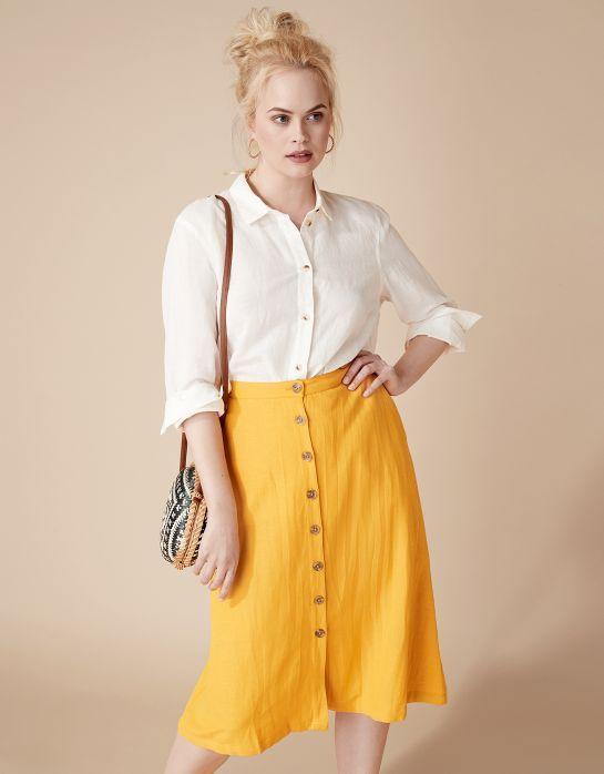 JENNEL SKIRT Kjol gul | Solid | Skirt | Kjolar | Mode