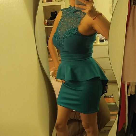 Charlotte Russe Teal Dress Brand new with tags. Charlotte Russe Dresses