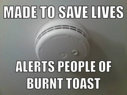 The true life of a smoke alarm.