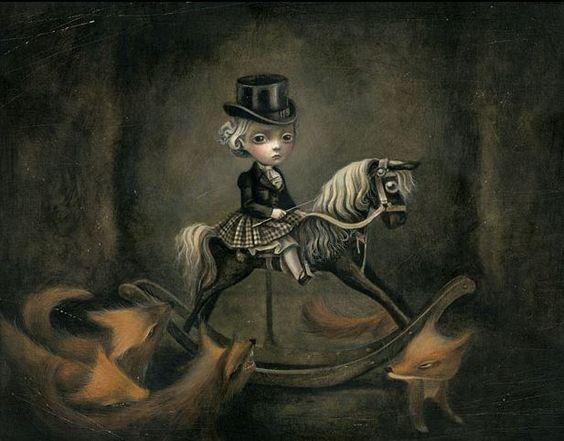 """Benjamin Lacombe ♠ L'Herbier des Fées """"La Petite Cavalière"""" Art"""